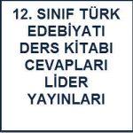 2016-2017 12. Sınıf Türk Edebiyatı Ders Kitabı Cevapları Lider Yayınları Sayfa 31-32